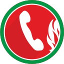 phone, fire, communication, telephone, call, talk icon