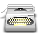 wordprocessing, package, pack, typewriter icon