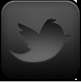 Black, Twitter icon