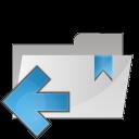 folder arrow left icon