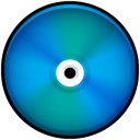 blue, disc, colored, save, disk, cd icon