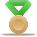 green, metal, bronze icon