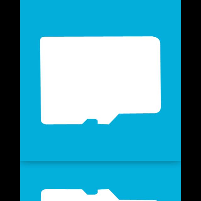 mirror, card, micro, sd icon