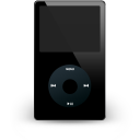 ipod, noir, off icon
