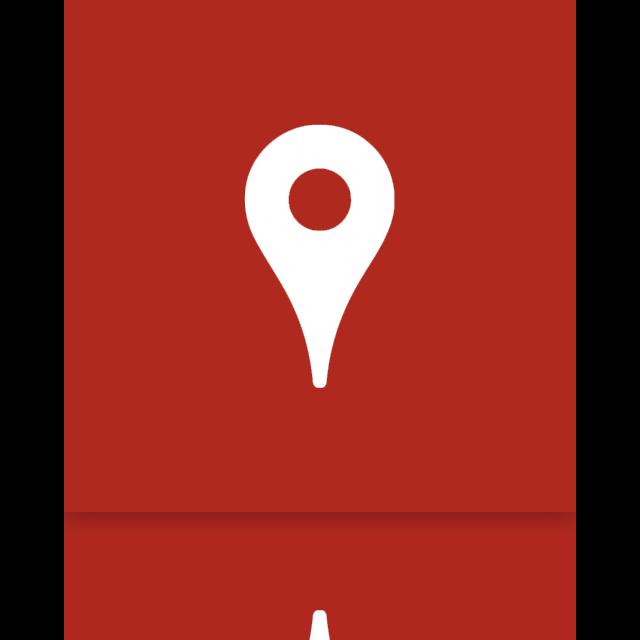 map, mirror, google icon