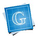 blueprint, social, google icon