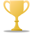 trophy, award, gold icon