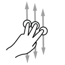 gestureworks, finger, three, scroll icon