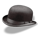 bowler, hat icon