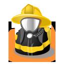 avatar, fireman icon