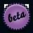 Beta, Splash, Violet icon
