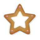 Christmas, Cookie, Star icon