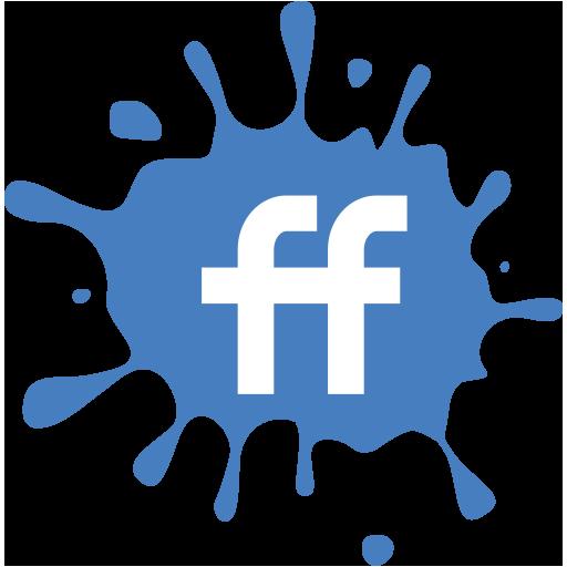 fiendfeed, social, media, blot, set icon