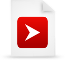 red, document, paper, file icon