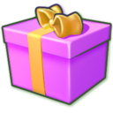 purple,giftbox icon