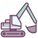 building, construction, heavy machinery, heavy equipment, work, machine, construction machinery icon