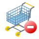 shopping, ecommerce, remove, cart icon