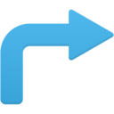 arrow turn right icon