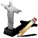 writing, write, cristoredentor, edit icon