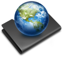 Black, Earth, Folder, Sites icon