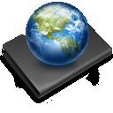 Black, Earth, Folder, Sites icon