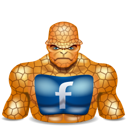 super hero, thing, facebook icon
