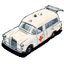 mercedes, ambulance, benz, car icon