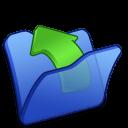 folder blue parent icon