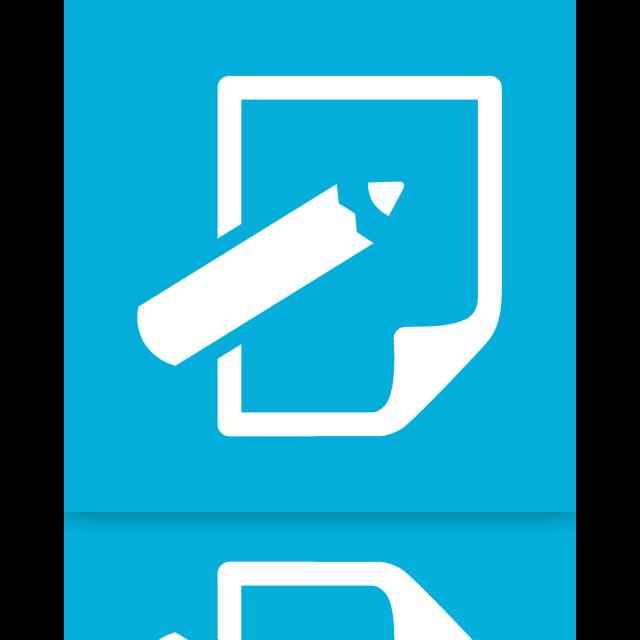 mirror, notepad icon