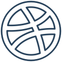 dribbble, logo, brand icon