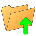 arrow up, arrow, up, folder icon