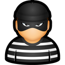 user, prisoner, cybercriminal, criminal, thief icon