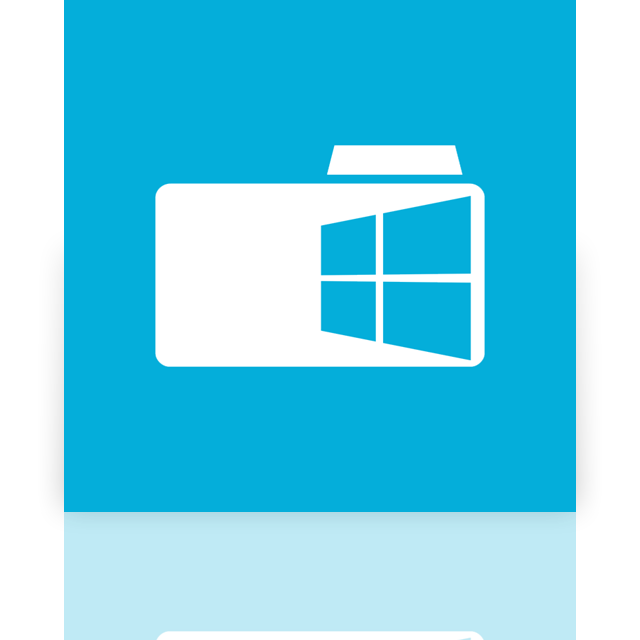 mirror, folder, window icon