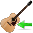 guitar,back,instrument icon