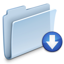 folder, badged, drop icon