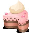 top, cream, on, cake icon