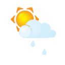 sun,littlecloud,rain icon