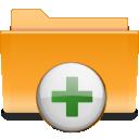 plus, archive, kde, folder, add icon