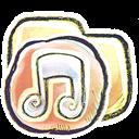 Folder, g, Music icon
