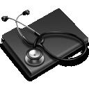 stethoscope, folder icon
