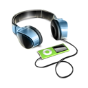 by, headphones icon