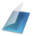 Documents vide bleu icon