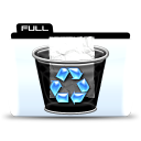 Trash full icon