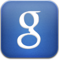 Blue, Google, Search icon