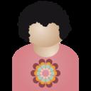 Afro man flower icon
