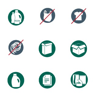 Recycling Materials icon sets preview