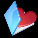 Blue, Favorits, Folder icon