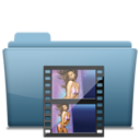 movie, video, folder, film icon