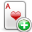 add, playingcard icon