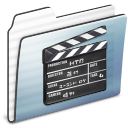stripe, movie, film, graphite, folder, old, video icon